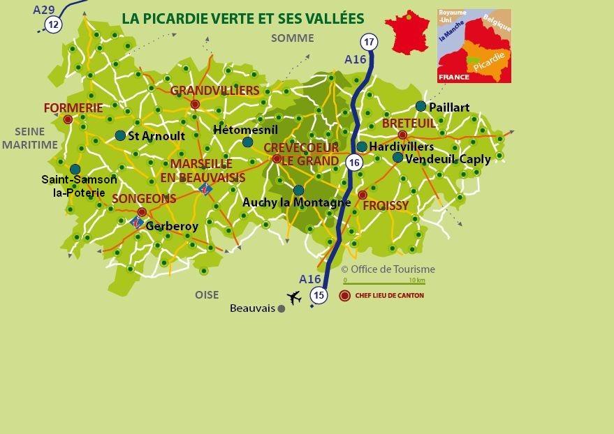 Carte touristique de picardie voyages cartes for Carte touristique yvelines
